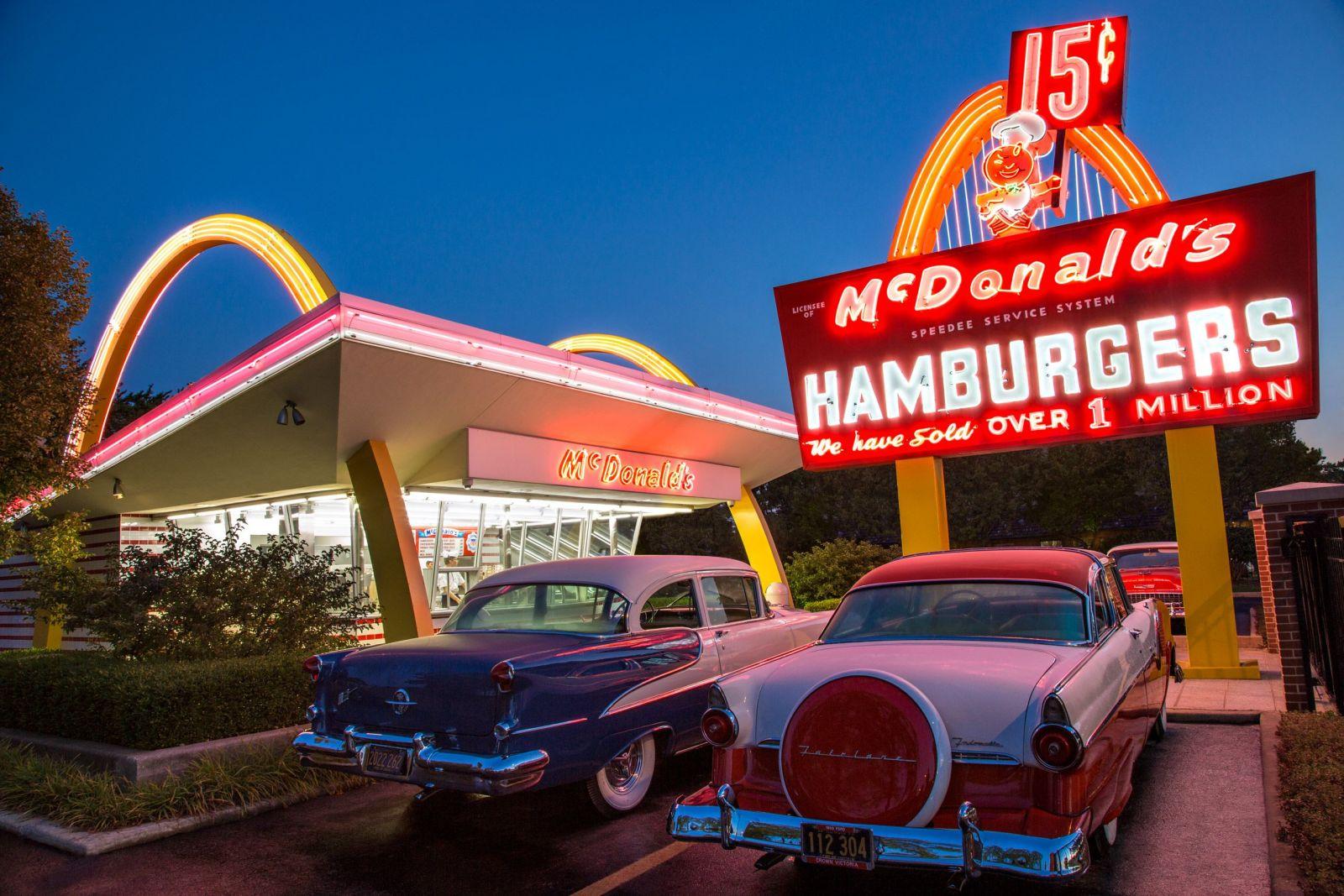 Первые рестораны Макдоналдс.