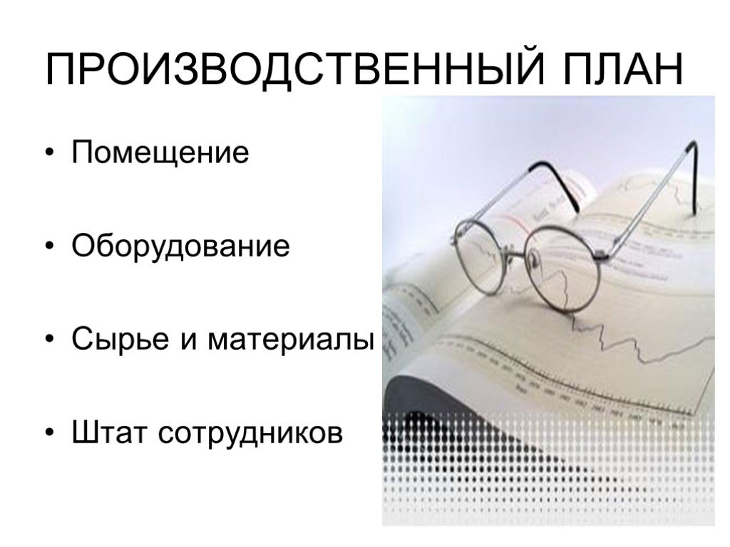 Производственный план компании